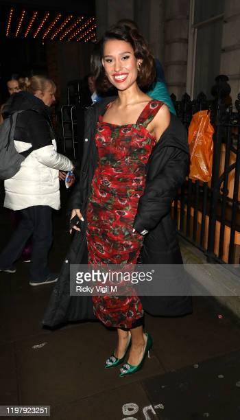 Raye seen attending LFW a/w 2020 GQ Dinner on January 06 2020 in London England