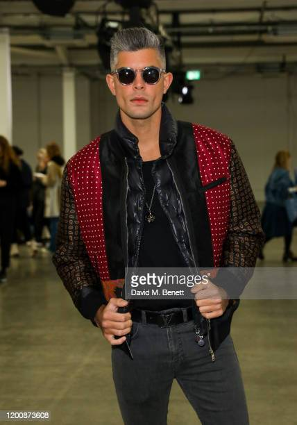 Rayer Van Ristell attends the Marques'Almeida show during London Fashion Week February 2020 at The Old Truman Brewery on February 15 2020 in London...