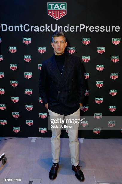 Rayer VanRistell attends TAG Heuer and art provocateur Alec Monopoly launch event celebrating special edition watches on January 31 2019 in London...