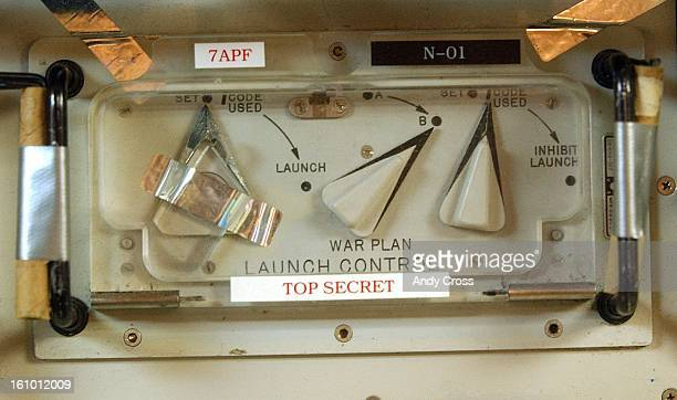 COLaunch Control Center panels for the Minute Man III nuclear ICBM missiles near New Ramer Colorado 65ft underground This control panel includes a...