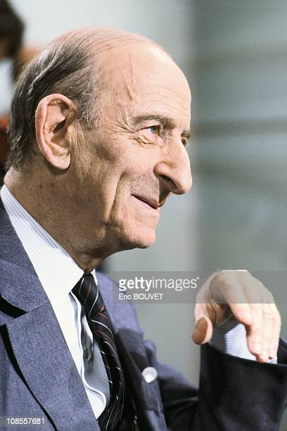 Raymond Aron at a broadcast of Apostrophes on Antenne 2 in Paris France on September 23rd 1983