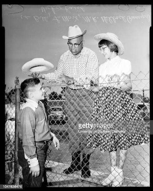 Raymond Avenue School Fair 1 June 1954 Vickie Baird Judith Ann RichardsonSally Lou HughesWellington MockBilly Lamont named best boy city farmer of...