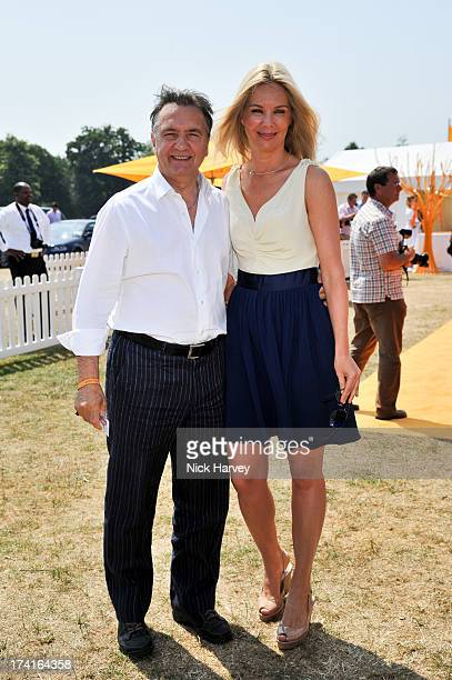 Raymond Blanc and Natalia Traxel attend the Veuve Clicquot Gold Cup final at Cowdray Park Polo Club on July 21 2013 in Midhurst England