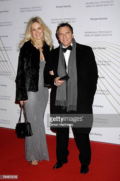 Raymond Blanc and partner Natalia Traxel attend Morgan Stanley Great Britons 2008 at the Guildhall on January 31 2008 in London England