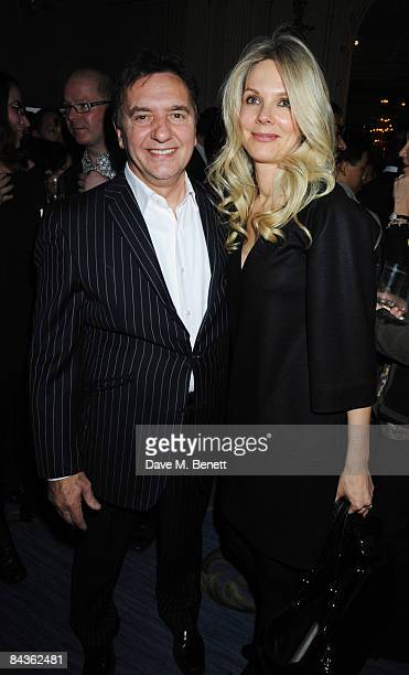 Raymond Blanc and partner Natalia Traxel attend the Tatler Restaurant Awards at the Mandarin Oriental Hotel on January 19 2009 in London England