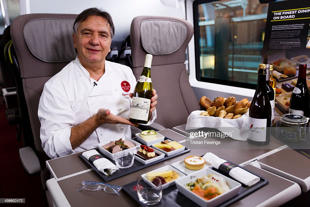 Raymond Blanc attends the unveiling Eurostar's brand new e320 fleet today complete with a live reveal of the train and special guests including Raymond Blanc and a catwalk show with 20 Eurostar staff at St Pancras Station on November 13, 2014 in London, England.