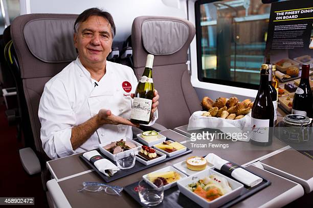 Raymond Blanc attends the unveiling Eurostar's brand new e320 fleet today complete with a live reveal of the train and special guests including...