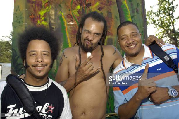 Raymond Boots Riley of The Coup Michael Franti of Spearhead and Charlie Tuna of Jurassic 5