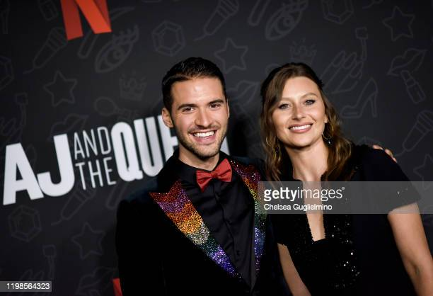 Raymond Braun and Aly Michalka attend the premiere of Netflix's AJ and the Queen Season 1 at the Egyptian Theatre on January 09 2020 in Hollywood...