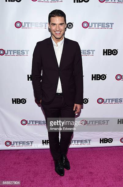 Raymond Braun arrives at the 2016 Outfest Los Angeles LGBT Film Festival Opening Night Gala of 'The Intervention' at the Orpheum Theatre on July 7...