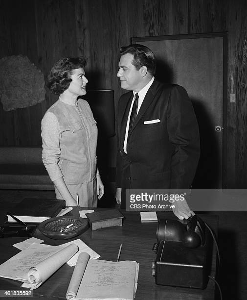 Raymond Burr and Barbara Hale Episode Case of the Desperate Daughter Image dated February 5 1958