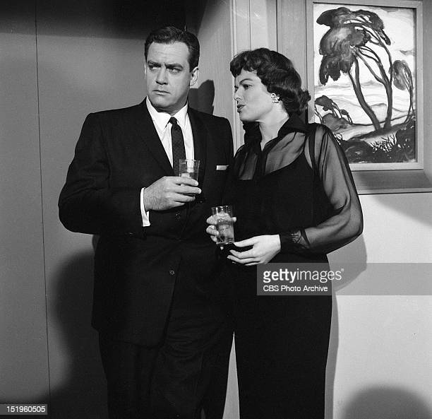 Raymond Burr and Barbara Hale Episode Case of the Gilded Lily Image dated April 1 1958