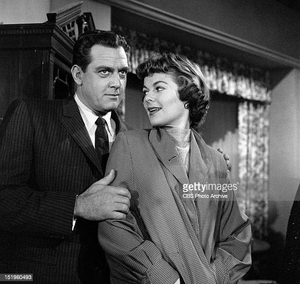 Raymond Burr and Barbara Hale Episode Case of the GreenEyed Sister Image dated November 22 1957