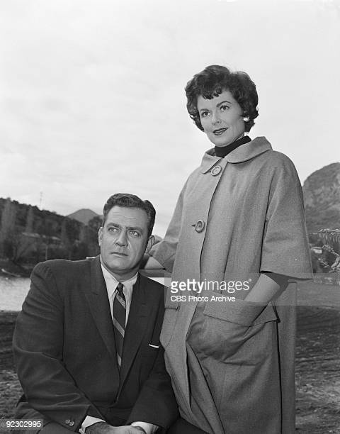 MASON Raymond Burr as Perry Mason and Barbara Hale as Della Street in The Case of the Angry Dead Man Image dated January 31 1961