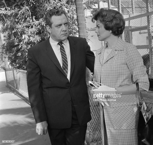 MASON Raymond Burr as Perry Mason and Barbara Hale as Della Street in The Case of the Cowardly Lion Image dated March 7 1961
