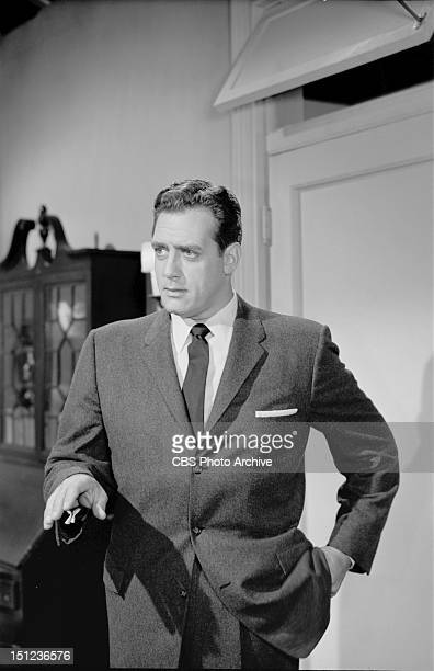 Raymond Burr as Perry Mason in the PERRY MASON episode 'Crimson Kiss' Image dated April 24 1957