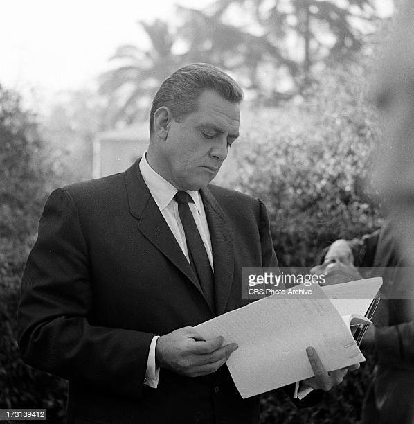 Raymond Burr as Perry Mason in the PERRY MASON episode 'The Case of the Velvet Claws' Image dated February 12 1963