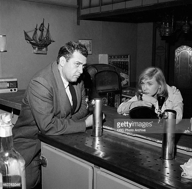 Raymond Burr as Sergeant Ben Gurnick and Joanne Woodward as Katherine in the CLIMAX episode 'Savage Portrait' Image dated December 6 1956