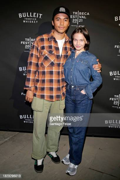 """Raymond Cham Jr. And Cailee Spaeny attend the Tribeca Festival After-Party for """"Italian Studies"""" Hosted By BULLEIT Frontier Whiskey at The Battery on..."""
