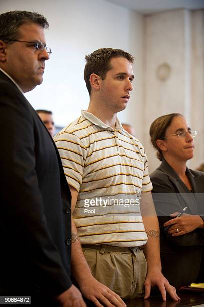 Raymond Clark III stands next to Assistant Public Defender Joseph E Lopez and Senior Assistant Public Defender Beth Merkin at his arraignment at the...