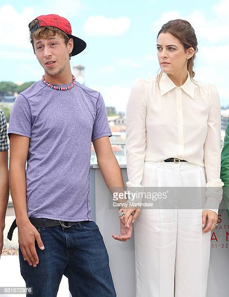 Raymond Coalson and Riley Keough attends the 'American Honey' photocall during the 69th annual Cannes Film Festival at the Palais des Festivals on...