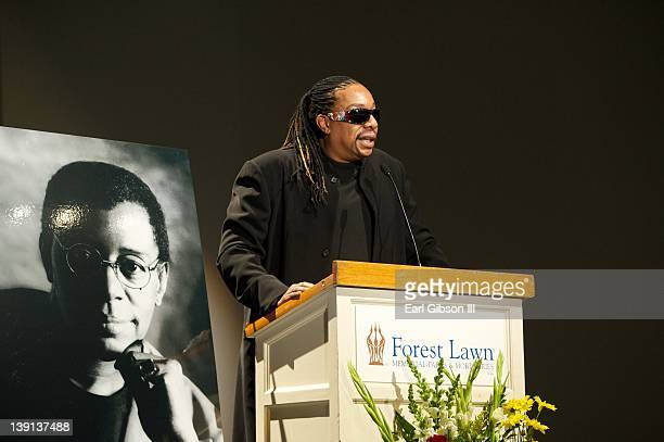 Raymond Cornelius pays tribute to his father Don Cornelius at his Memorial Service held on February 16 2012 in Los Angeles California