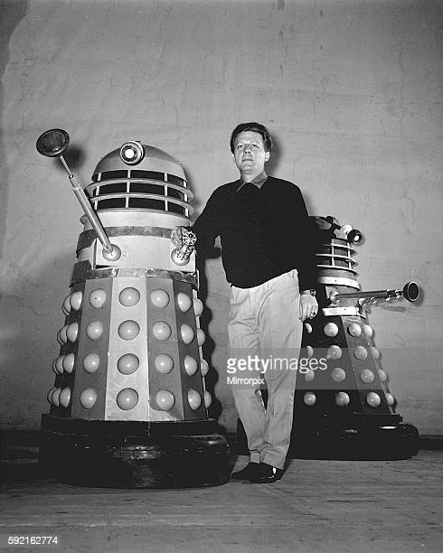 Raymond Cusick With Daleks December 1964 TV Programme Doctor Who Robot Science Fiction 1960s Dr Who