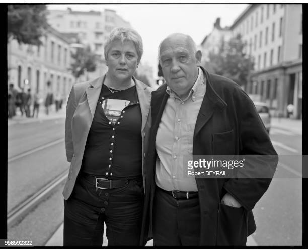 Raymond Depardon and Claudine Nogaret on June 8 2012 in Lyon France