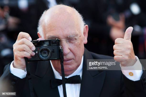 Raymond Depardon attends the 'From The Land Of The Moon ' premiere during the 69th annual Cannes Film Festival at the Palais des Festivals on May 15...