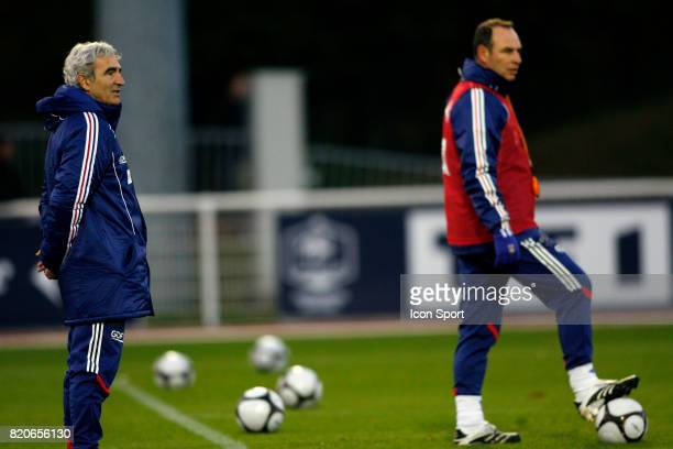 Raymond DOMENECH /Alain BOGHOSSIAN Entrainement de l'Equipe de France Centre Technique National Clairefontaine