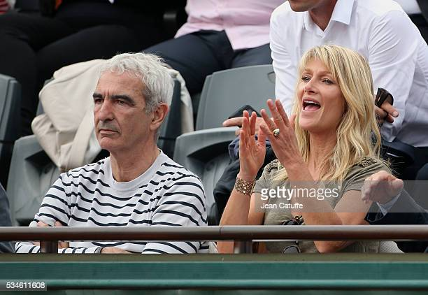 Raymond Domenech and Isabelle Camus attend day 5 of the 2016 French Open held at RolandGarros stadium on May 26 2016 in Paris France