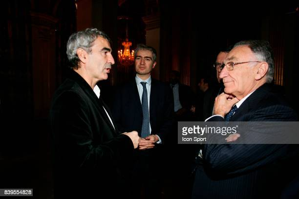 Raymond DOMENECH et Jean Pierre ESCALETTES Tirage au sort de la Champions League Mairie de Paris