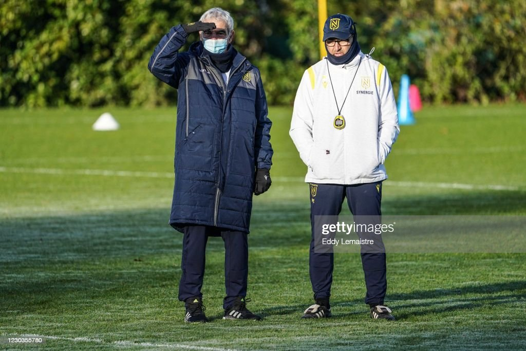 Raymond Domenech Headcoach Of Nantes And Patrick Collot Headcoach News Photo Getty Images