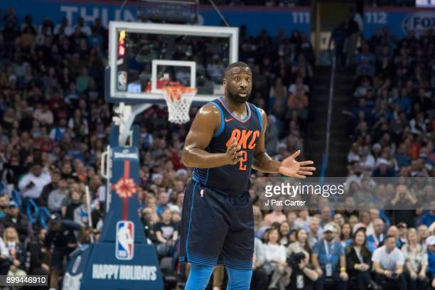 Raymond Felton of the Oklahoma City Thunder during the second half of a NBA game at the Chesapeake Energy Arena on December 25 2017 in Oklahoma City...