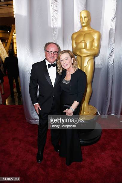 Raymond Fitzpatrick and Fox Searchlight President Nancy Utley attend the 88th Annual Academy Awards at Hollywood Highland Center on February 28 2016...