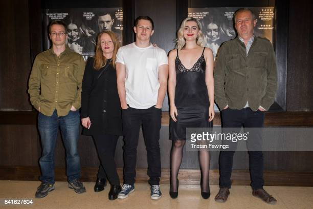 Raymond Friel producer Kathy Spiers Jack Parry JonesTara Lee and director Philip John attend the 'Moon Dogs' photocall at Regent Street Cinema on...