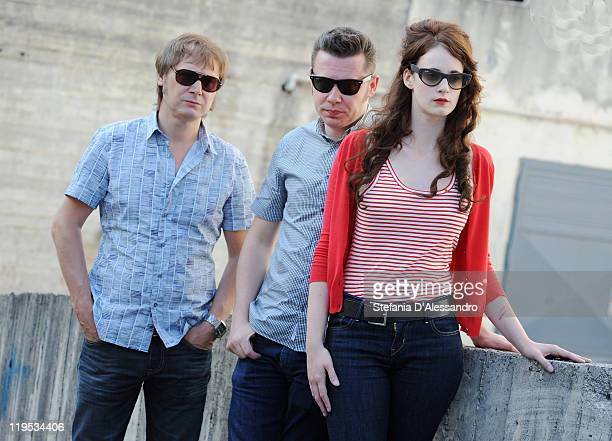 Raymond Greets Alex Callier and Noemie Wolfs of Hooverphonic attend the 2011 Giffoni Experienceon on July 21 2011 in Giffoni Valle Piana Italy