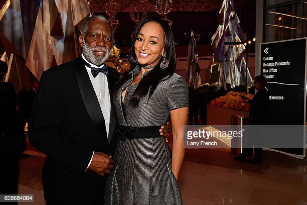 Raymond Huger and Karen Huger attend the MGM National Harbor Grand Opening Gala on December 8 2016 in National Harbor Maryland