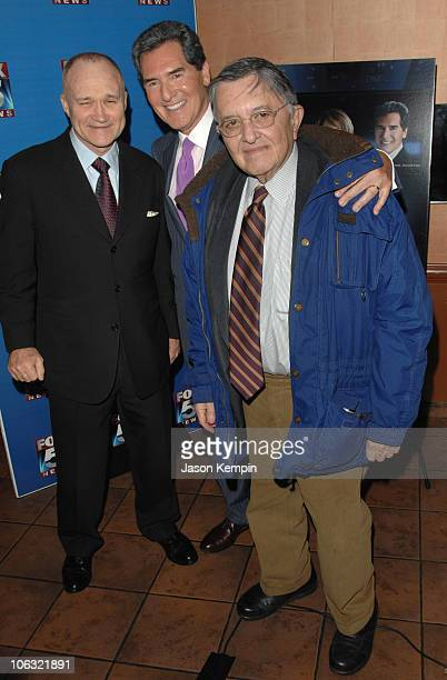 Raymond Kelly Ernie Anastos and Gabe Pressman during Fox 5 Celebrates The 4th Anniversary Of The 10 PM News March 15 2007 at Fresco On The Go in New...