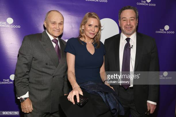 Raymond Kelly Patricia Duff and David Frum attend Trump Year One Presidential Panel on January 17 2018 in New York City