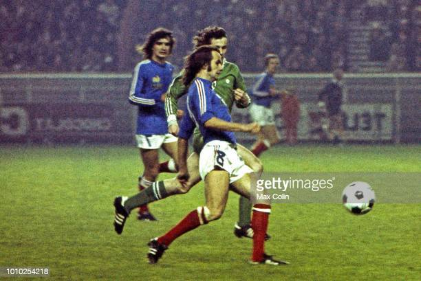Raymond Keruzore of France during the Qualifying World Cup match between France and Ireland at Parc des Princes Paris France on November 17th 1976