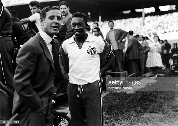 Raymond Kopa And Pele In 1960