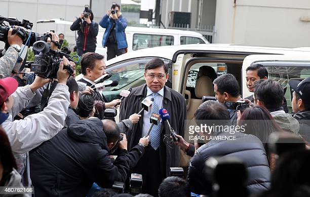 Raymond Kwok a cochairman of development giant Sun Hung Kai Properties arrives at the High Court to support his brother Thomas Kwok in a corruption...