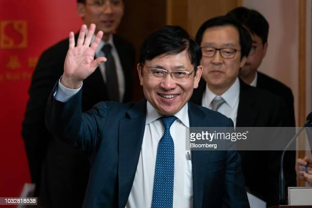 sun hung kai chairman raymond kwok presents annual result 画像と写真