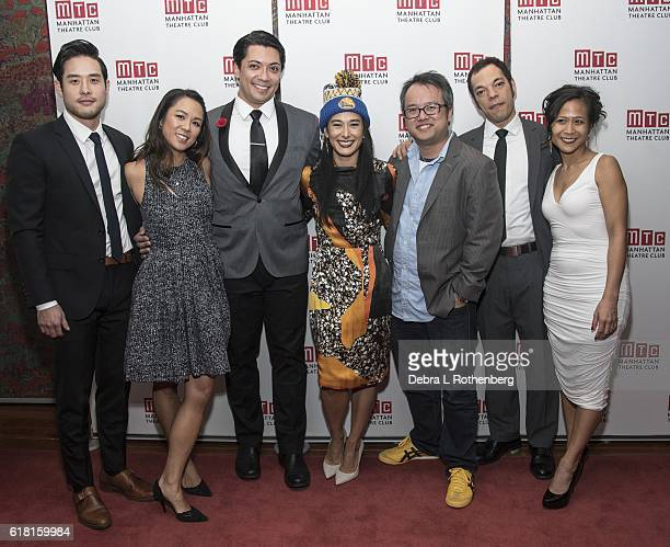 Raymond Lee Samantha Quan Jon Hoche Jennifer Ikeda Qui Nguyen Paco Tolson and May Adrales attend the opening night party of Vietgone at Brasserie 8...