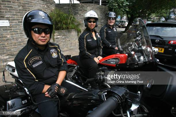 Raymond Ma Siuwing with Bikers of the Harley Owners Group Hong Kong The story is about the different tribes of the Hong Kong bike community as to tie...