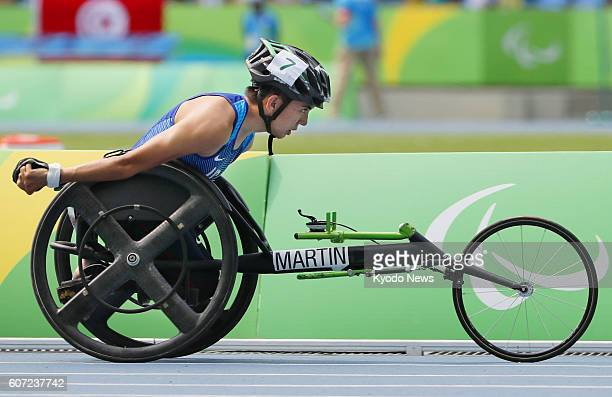 Raymond Martin of the United States competes en route to winning the men's 1500meter T52 final at the Rio de Janeiro Paralympics on Sept 15 2016...