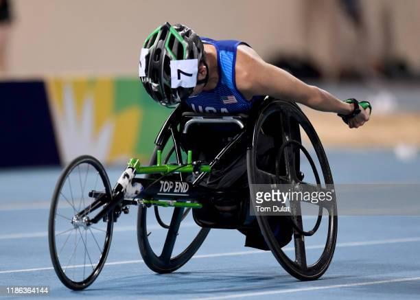 Raymond Martin of United States competes during the Men's 400m T52 heat on Day Two of the IPC World Para Athletics Championships 2019 Dubai on...