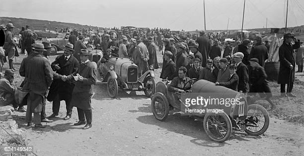 Raymond Mays' Bugatti Brescia and JS Chance's Enfield Allday Porthcawl Speed Trials Wales 1922 Artist Bill BrunellBugatti Brescia 1496 cc Reg No...