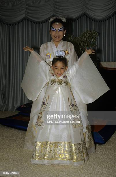 Raymond Nakachian And Kimera Celebrate The 6th Anniversary Of Their Girl Melody janvier 1988 Portrait de Mélodie à son 6e anniversaire avec ses...